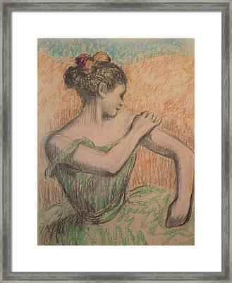 Dancer Framed Print by Degas