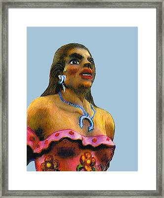 Dancer Female Albuquerque 2002 Art Sky Blue  Jgibney Signature 2010 The Museum Zazzle Gifts Faa Framed Print