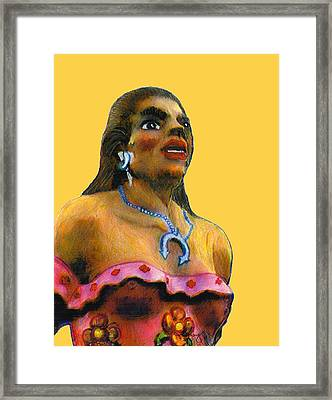 Dancer Female Albuquerque 2002 Art Tan  Jgibney Signature 2010 The Museum Zazzle Gifts Faa Framed Print