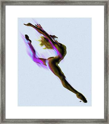 Dancer Impressionist Painting Acrylic Framed Print by Tony Rubino