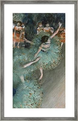 Dancer In Green Framed Print