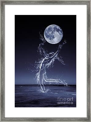 Dancer In Moonlight Framed Print by Amanda Elwell