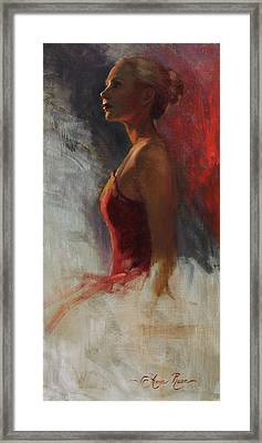 Dancer In Rim Lighting Framed Print by Anna Rose Bain