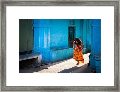 Dancer In The Light Framed Print