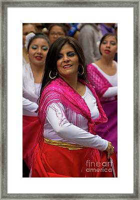 Dancer In The Pase Del Nino Parade II Framed Print by Al Bourassa