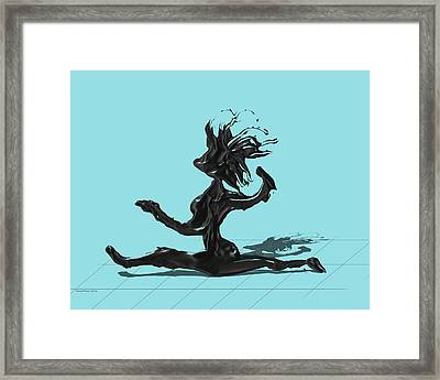 Dancer - Island Paradise Blue Framed Print by Manuel Sueess