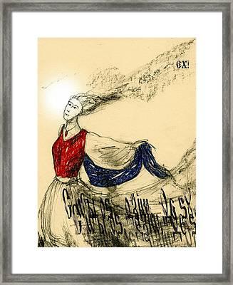 Dancer Lady Framed Print