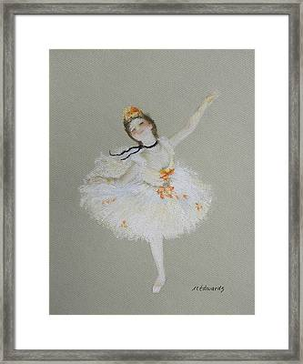 Dancer Framed Print by Marna Edwards Flavell