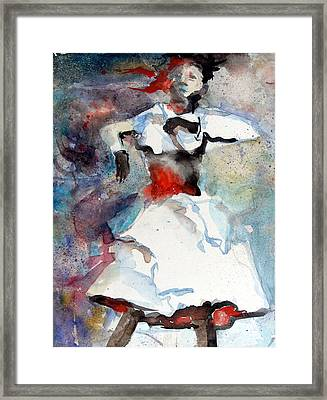 Dancer Framed Print by Mindy Newman