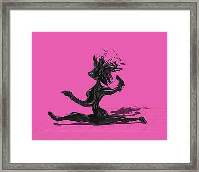 Dancer - Pink Framed Print by Manuel Sueess