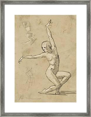 Dancer Study Framed Print by H James Hoff