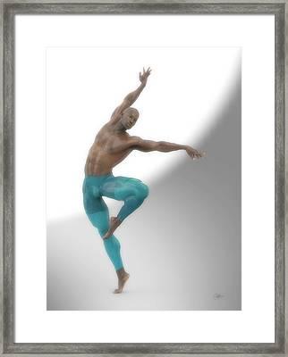 Dancer With Blue Leotard Framed Print by Joaquin Abella