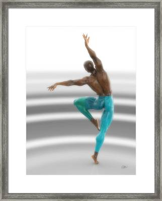 Dancer With Blue Leotards Framed Print by Joaquin Abella