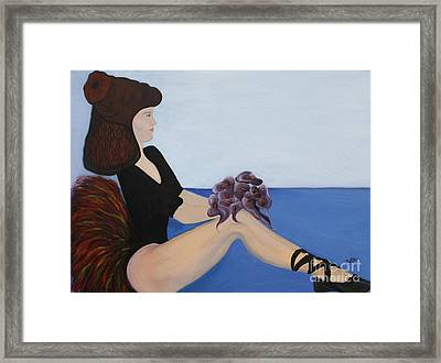 Framed Print featuring the painting Dancer With Calla Lillies by Jolanta Anna Karolska