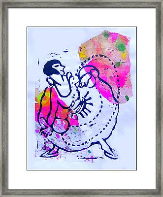 Dancer With Cord Framed Print by Adam Kissel
