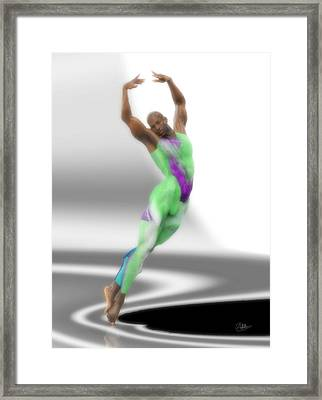 Dancer With Green Leotard Framed Print