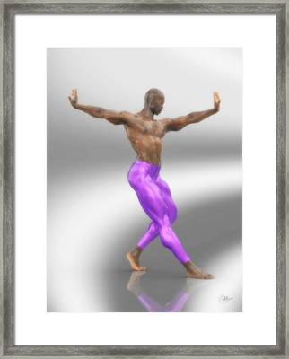 Dancer With Purple Leotards Framed Print