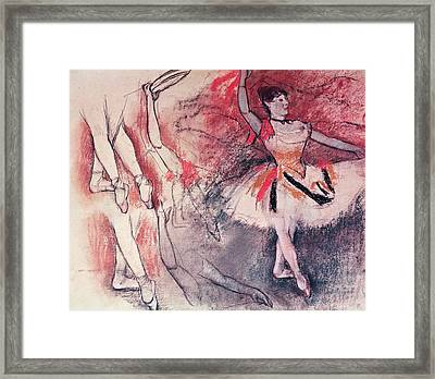 Dancer With Tambourine Or Spanish Dancer Framed Print
