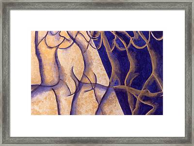 Dancers - Study 12 Framed Print by Caron Sloan Zuger