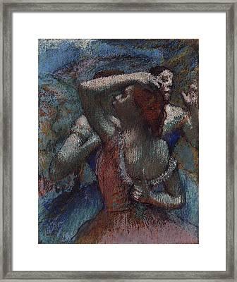 Dancers 1894 - 1904 Framed Print by Edgar Degas