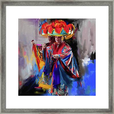 Dancers 269 1 Framed Print by Mawra Tahreem