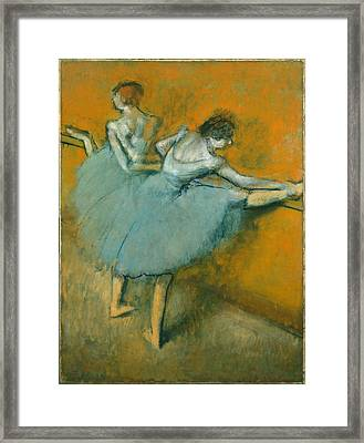 Dancers At The Barre  1900 Framed Print by Edgar Degas
