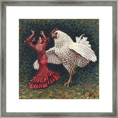 Dancers El Gallo Framed Print by Holly Wood