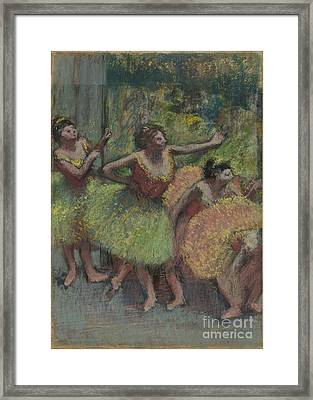 Dancers In Green And Yellow Framed Print by MotionAge Designs