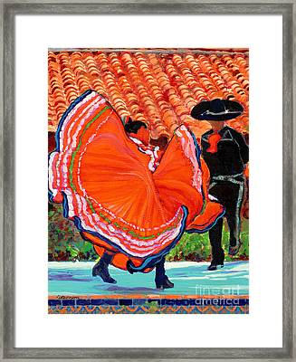 Dancers In Old Town San Diego California Framed Print by RD Riccoboni