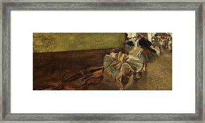 Dancers In The Rehearsal Room Framed Print