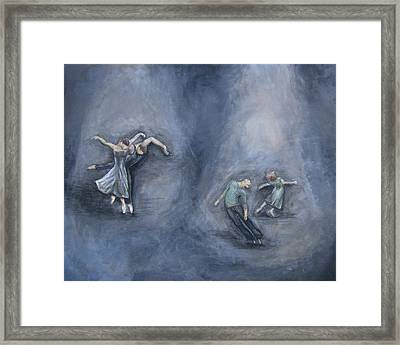 Dancers Framed Print by Michelle Iglesias