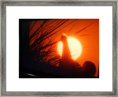 dancers of the Dawn Framed Print by Michel Croteau