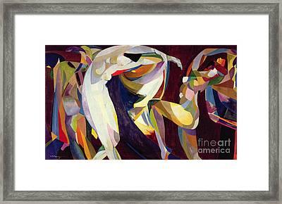 Dances Framed Print by Arthur Bowen Davies
