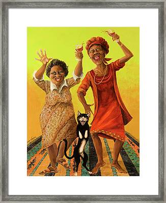 Dancin' Cause It's Tuesday Framed Print by Shelly Wilkerson