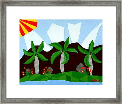 Dancin Palms Framed Print by Lourdes  SIMON