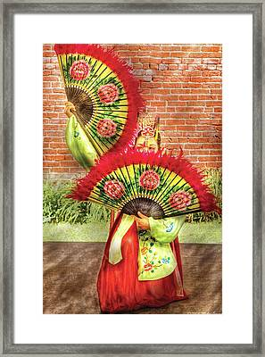 Dancing - The Fan Dance Framed Print by Mike Savad