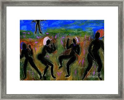 Dancing A Deliverance Prayer Framed Print by Angela L Walker
