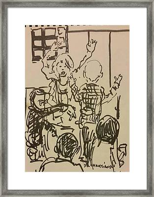 Dancing At Barking Dog Framed Print by James Christiansen