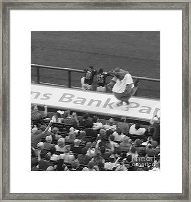 Dancing At The Ball Park Framed Print