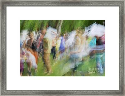 Dancing At The Music Festival Framed Print