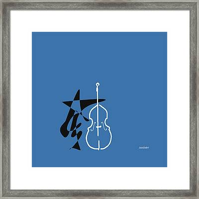 Dancing Bass In Blue Framed Print by David Bridburg