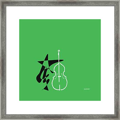 Dancing Bass In Green Framed Print by David Bridburg