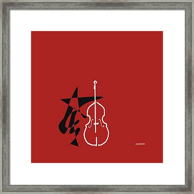 Dancing Bass In Orange Red Framed Print