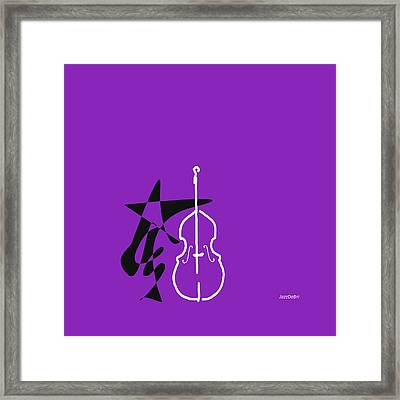 Dancing Bass In Purple Framed Print by David Bridburg