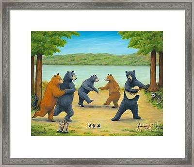 Dancing Bears Framed Print