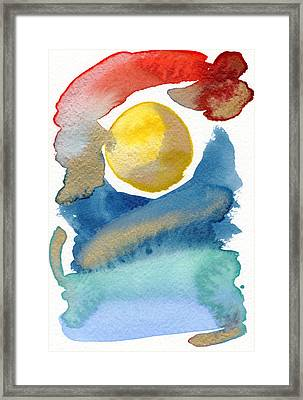 Framed Print featuring the painting Dancing by Bee-Bee Deigner