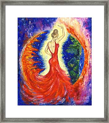 Dancing Between Two Worlds Framed Print