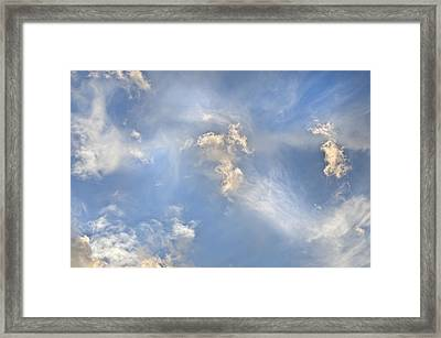 Framed Print featuring the photograph Dancing Clouds by Wanda Krack