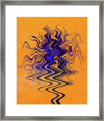 Dancing Colors 3 Framed Print by Margaret Saheed