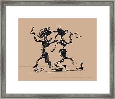 Dancing Couple 1 - Hazelnut Framed Print by Manuel Sueess